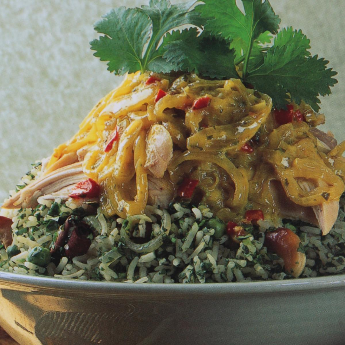 A picture of Delia's Thai Creamed Coconut Chicken with Thai Green Rice recipe