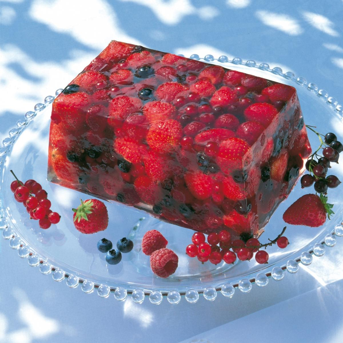 Summer a terrine of summer fruits