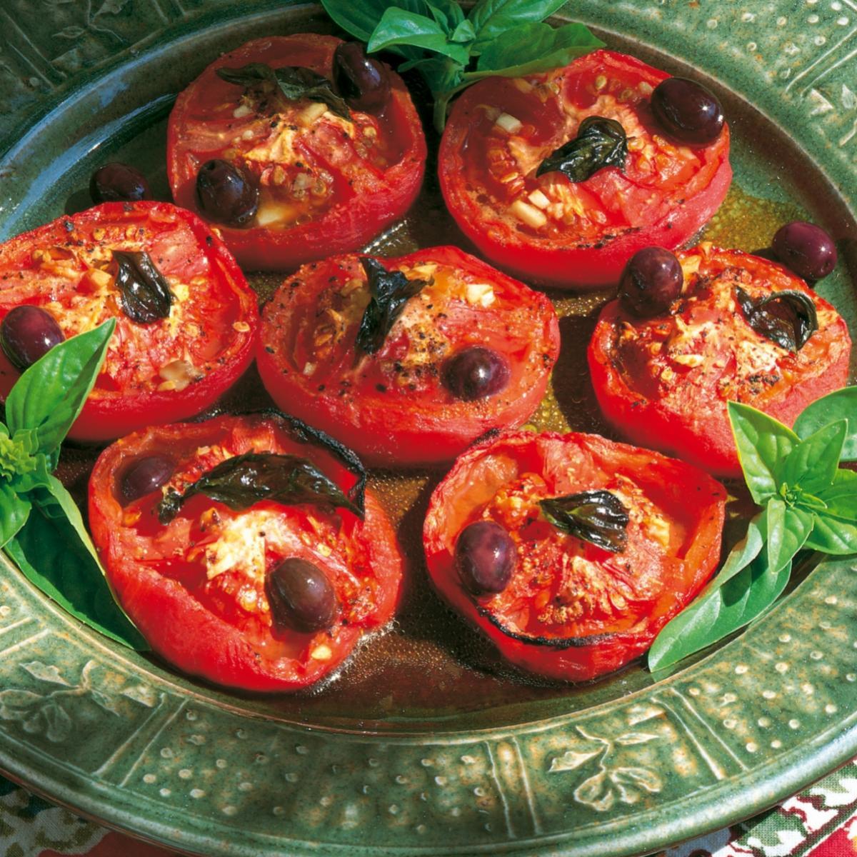 Summer roasted tomato salad