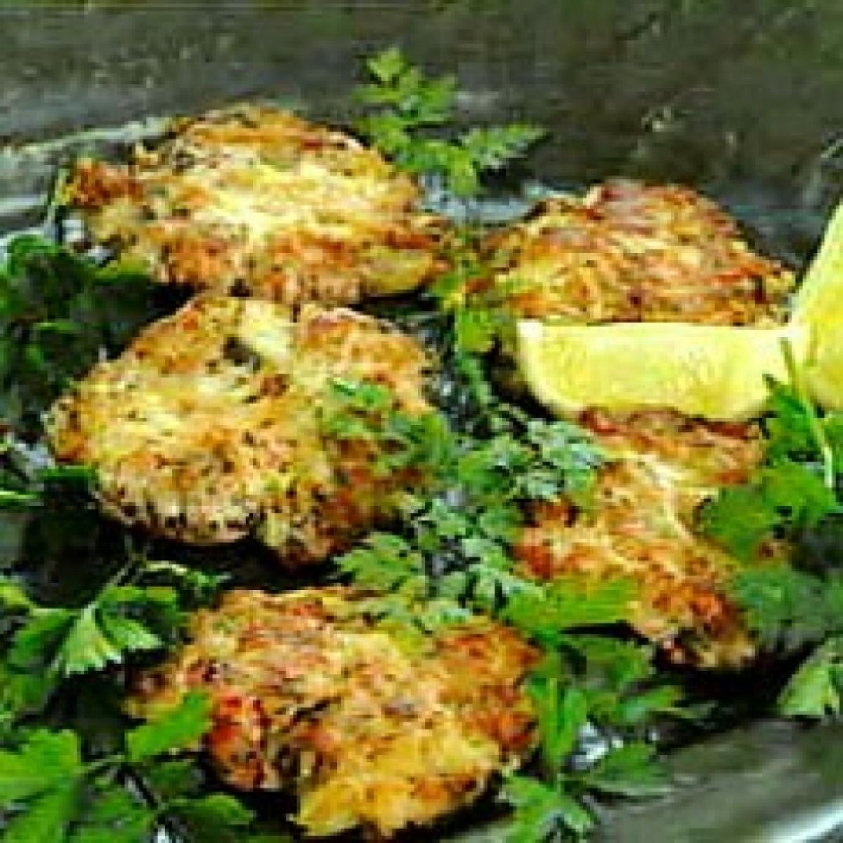 Summer salmon rosti fish cakes old image keep
