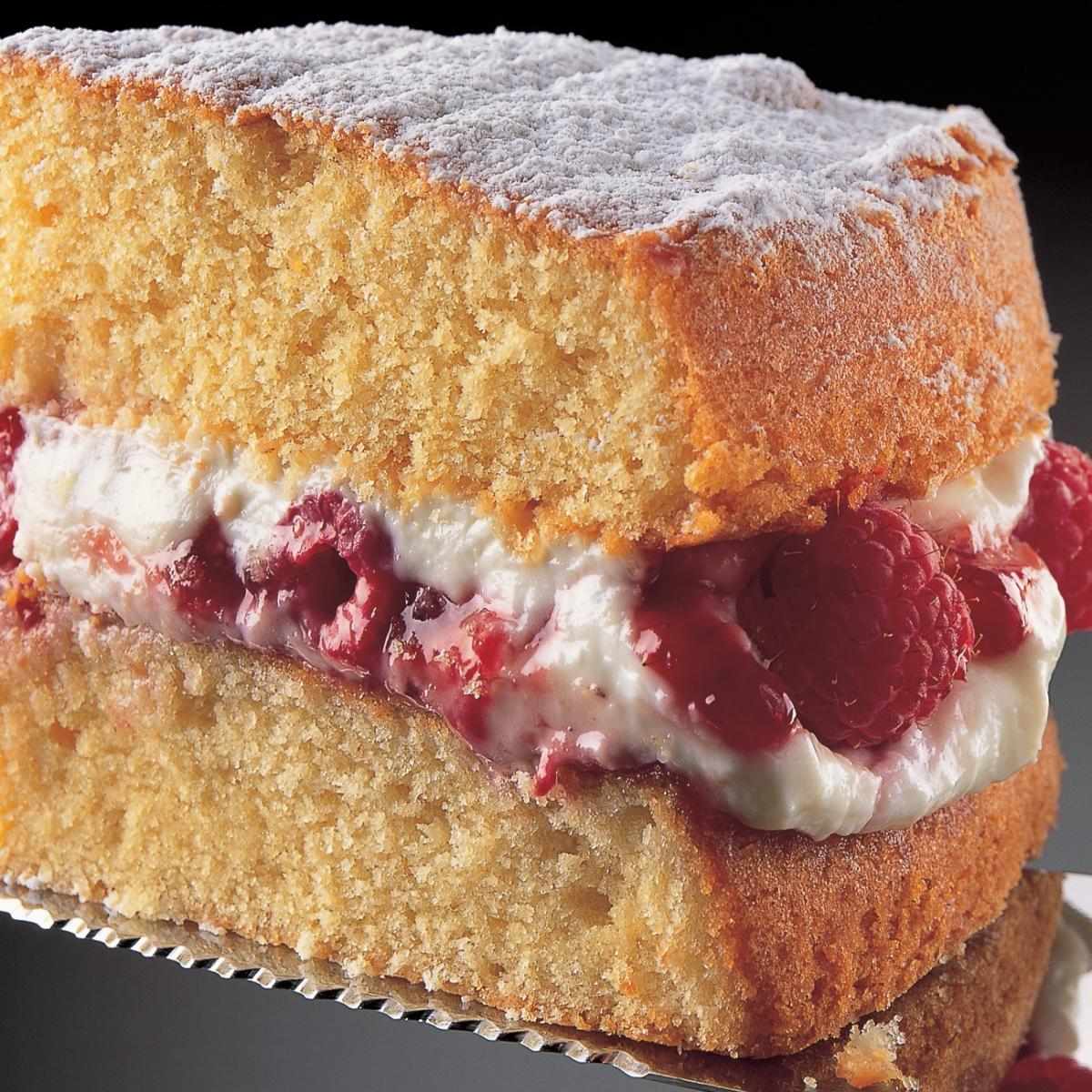 A picture of Delia's All-in-one Sponge Cake with Raspberry and Mascarpone Cream recipe