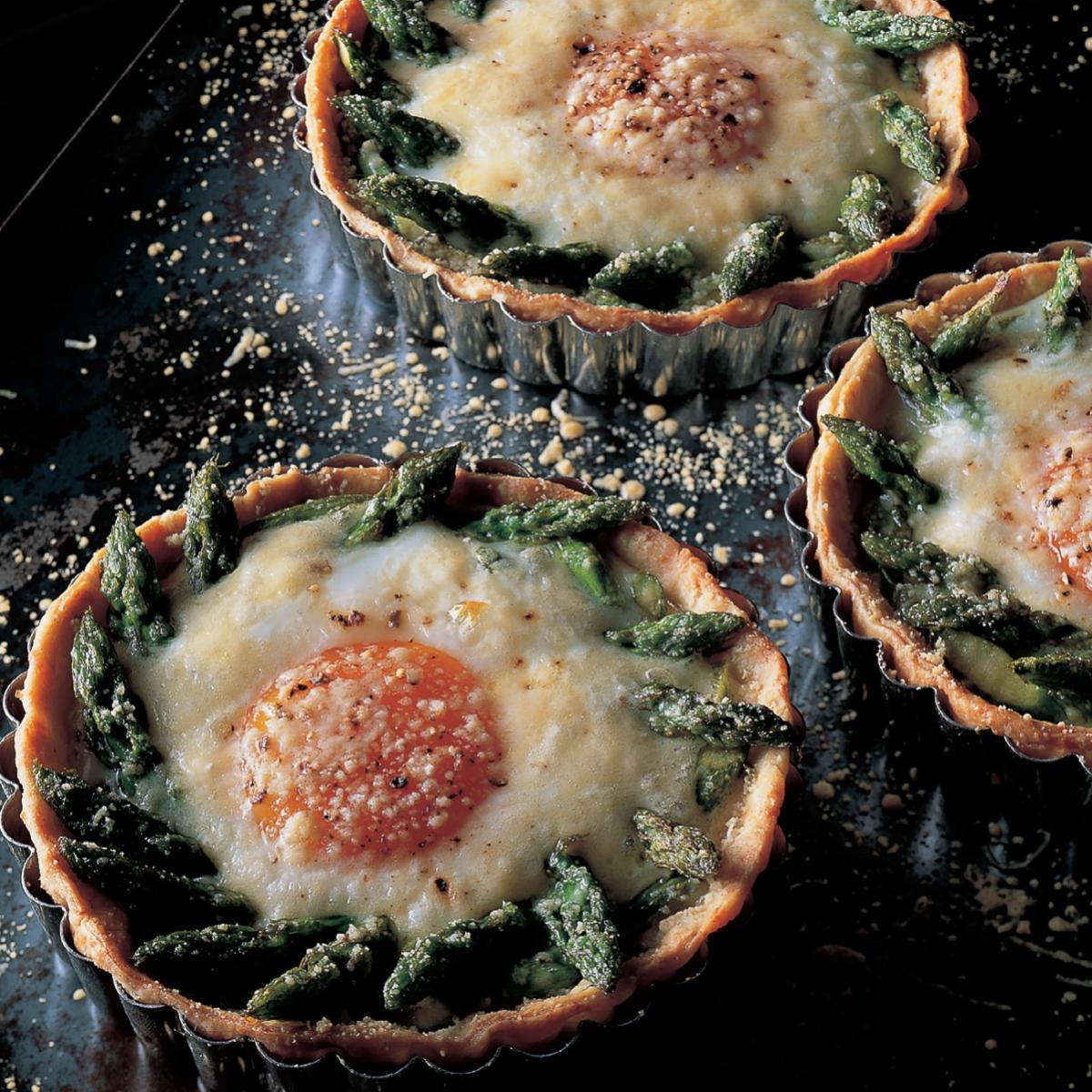A picture of Delia's Asparagus, Cheese and Egg Tartlets recipe
