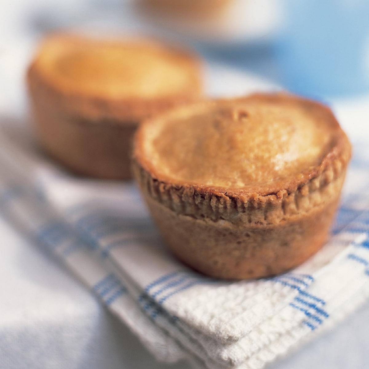 Vegetarian not pork pies