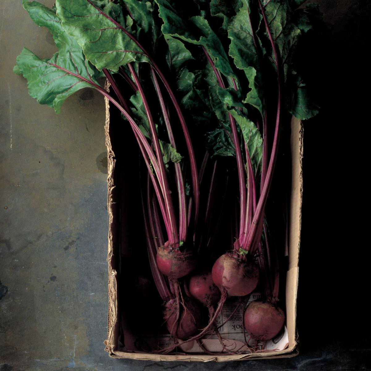 Vegetarian pickled beetroot with shallots