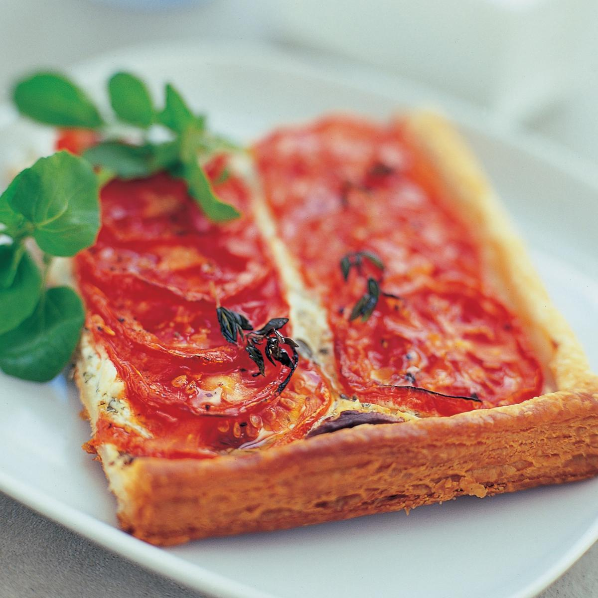 A picture of Delia's Roasted Tomato and Goats' Cheese Tart with Thyme recipe