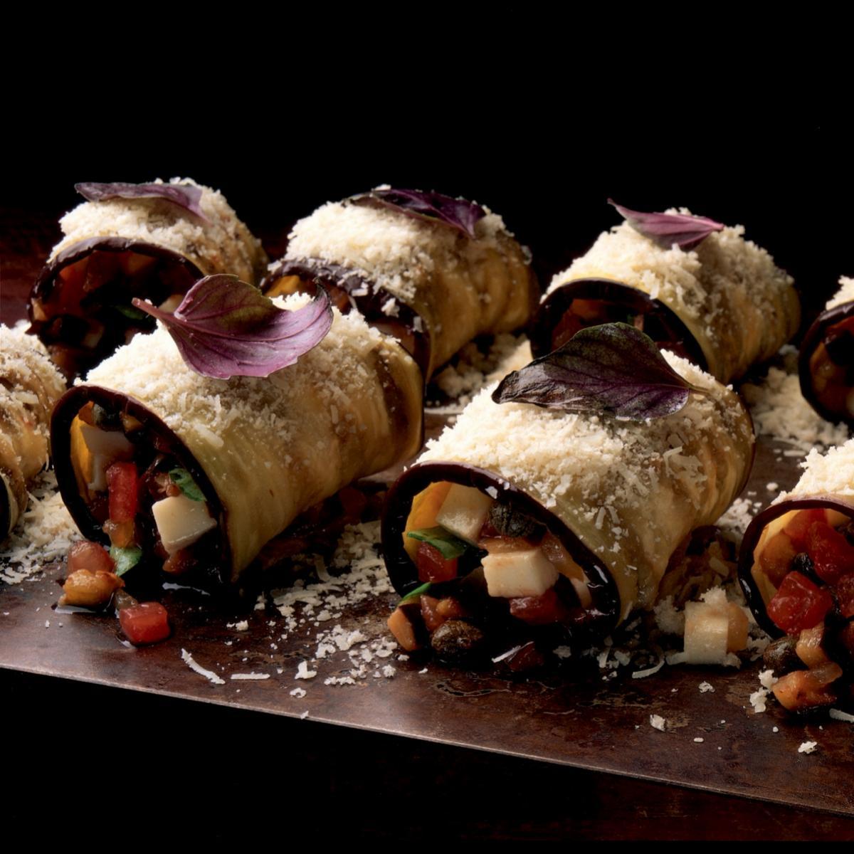 A picture of Delia's Italian Stuffed Aubergines recipe