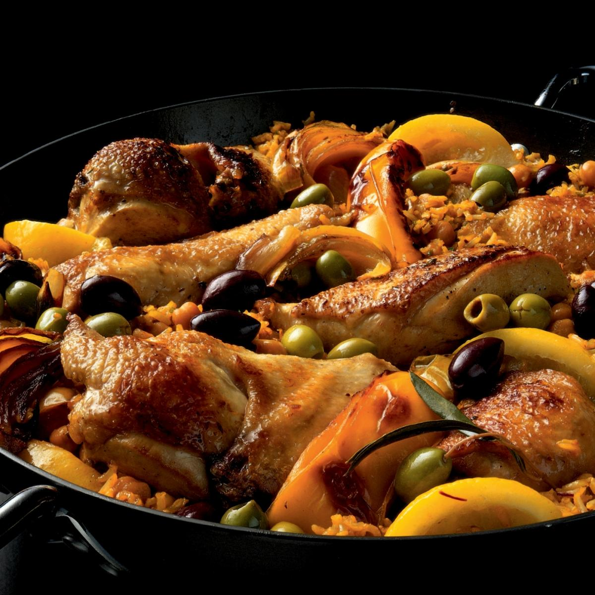 A picture of Delia's Moroccan Baked Chicken with Chickpeas and Rice recipe
