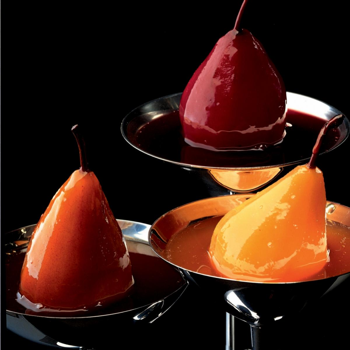 Winter pears baked in marsala wine