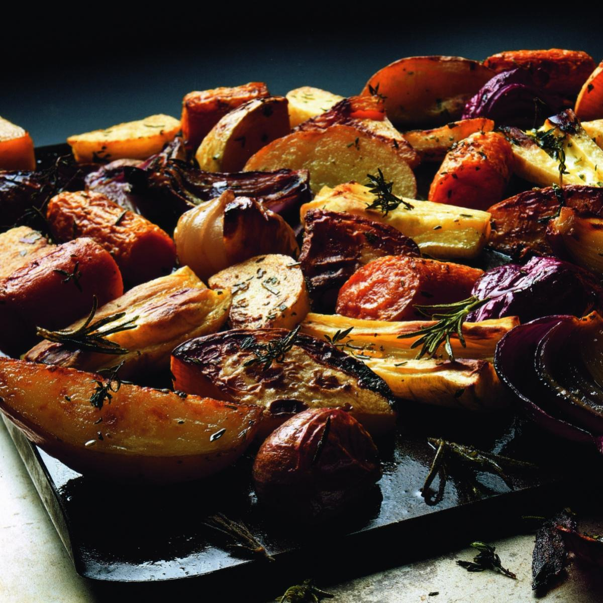 Winter roasted roots with herbs