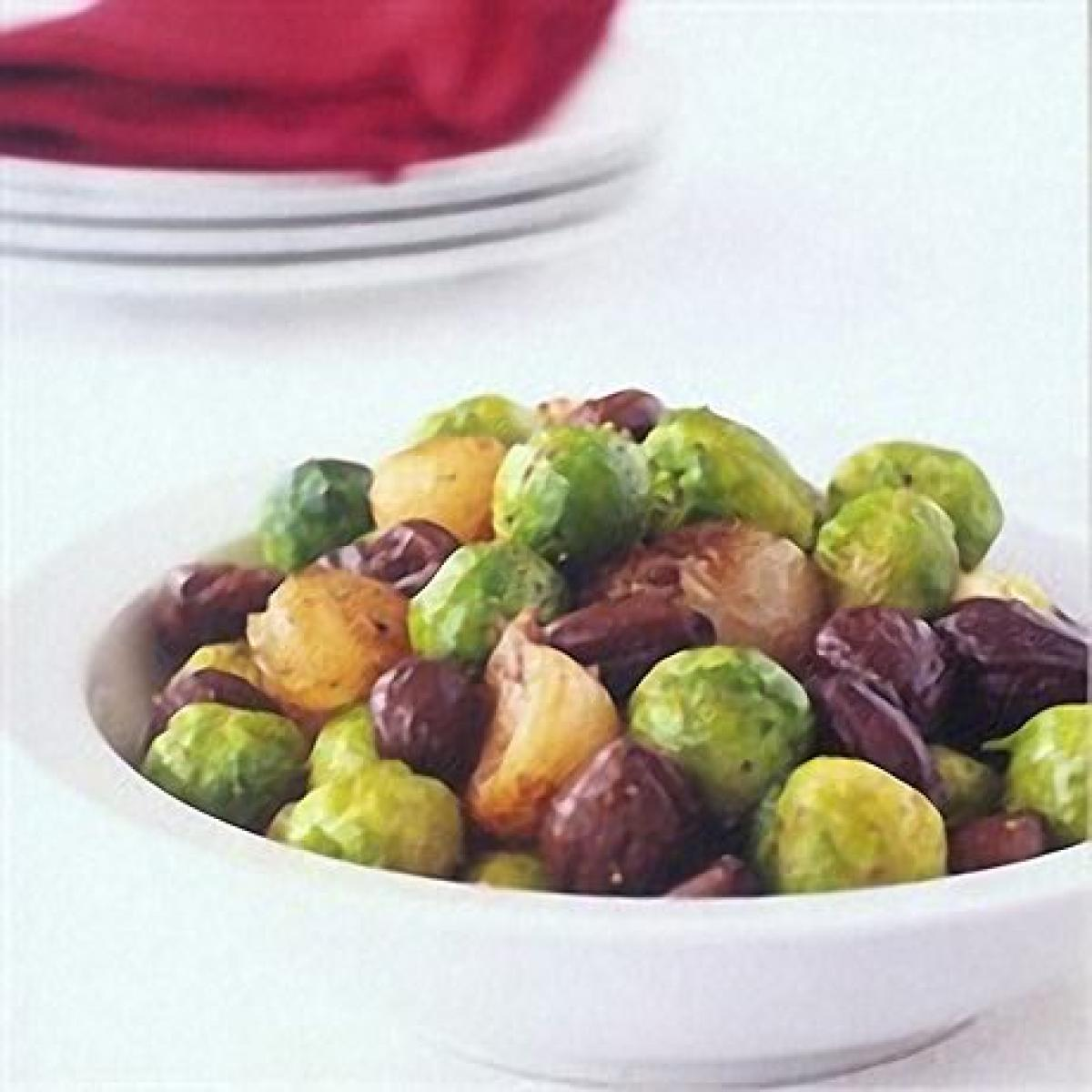 A picture of Delia's Sautéed Brussels Sprouts with Chestnuts recipe
