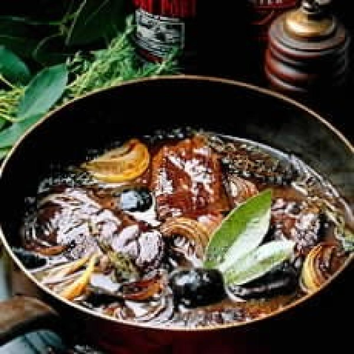 A picture of Delia's Venison Braised in Blackfriars Porter and Port with Pickled Walnuts recipe
