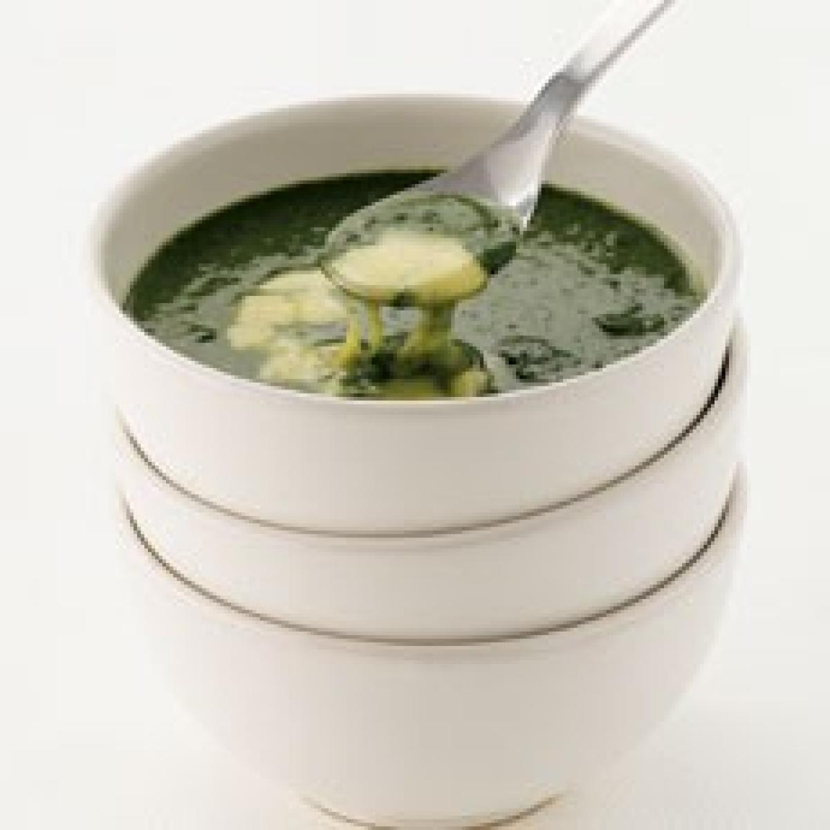 A picture of Delia's Spinach Soup with Fontina recipe