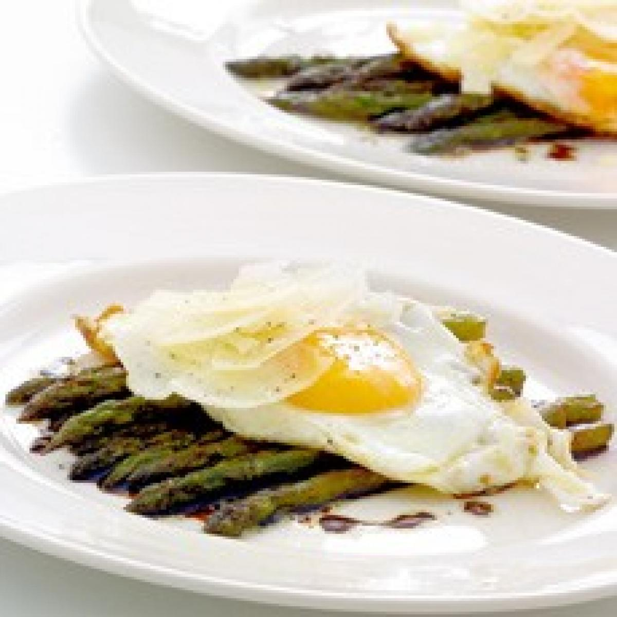 A picture of Delia's Sauteed Asparagus with Eggs and Parmesan recipe