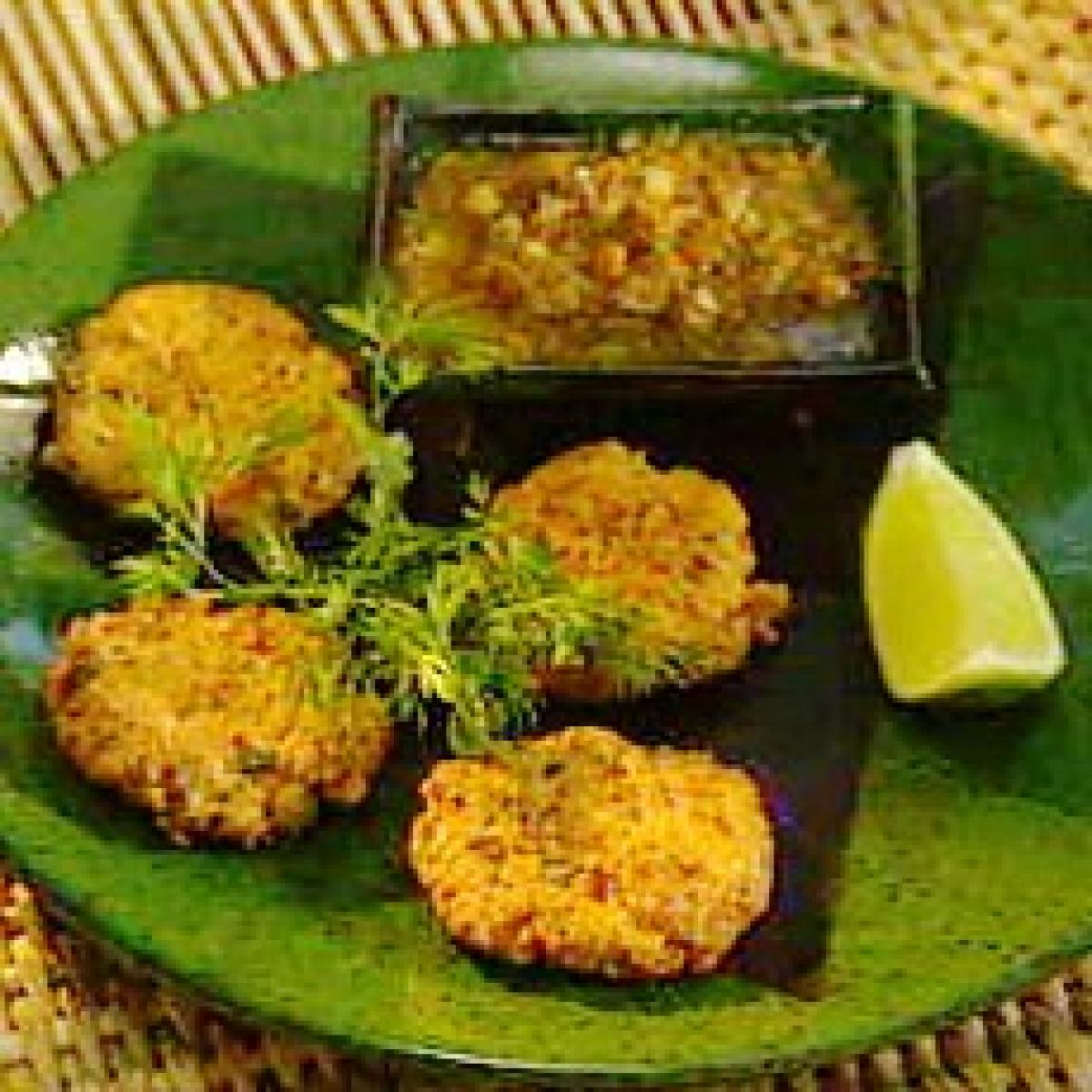 A picture of Delia's Thai Fish Cakes with Cucumber Dipping Sauce recipe
