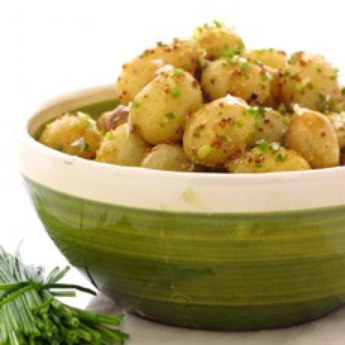 A picture of Delia's Warm Potato Salad with Lemon and Chive Vinaigrette recipe
