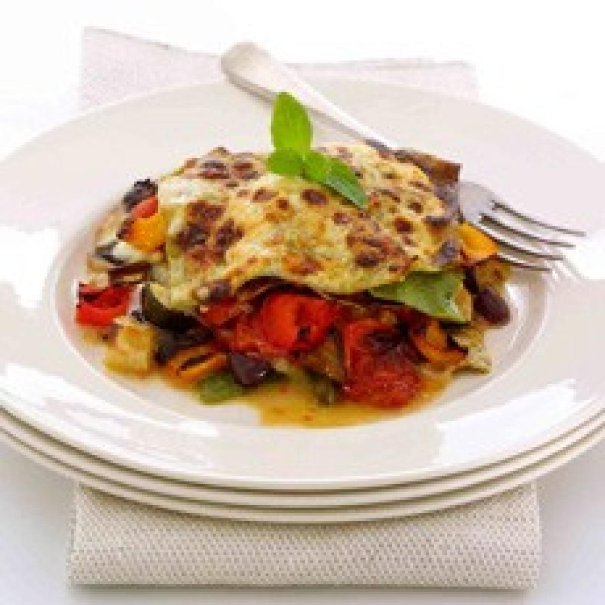 A picture of Delia's Roasted Mediterranean Vegetable Lasagne recipe