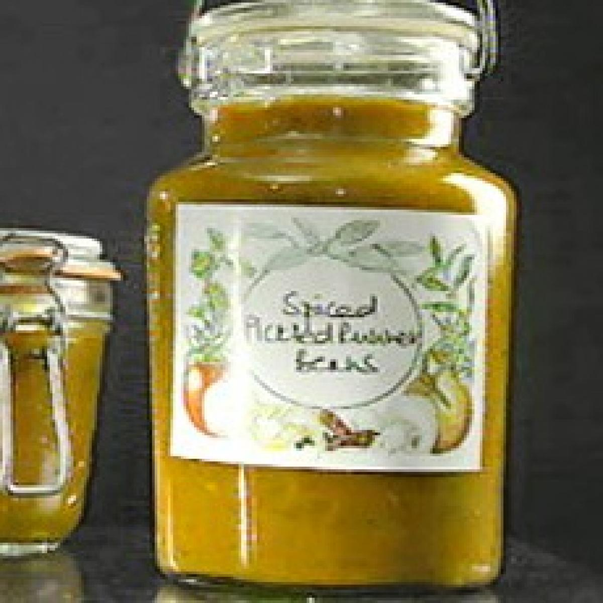A picture of Delia's Spiced Pickled Runner Beans recipe