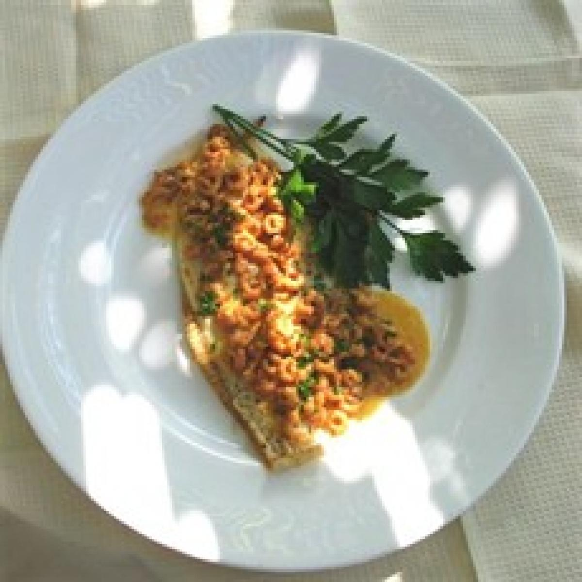 A picture of Delia's Grilled Plaice Fillets with Shrimp Sauce recipe