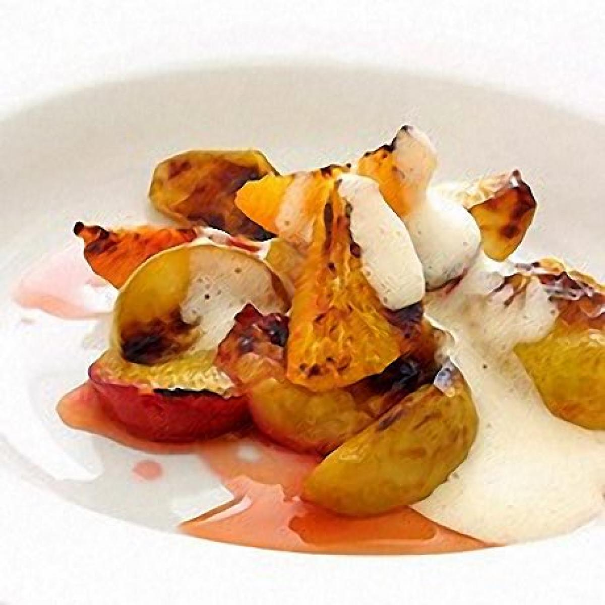 A picture of Delia's Grilled Autumn Fruits with Sabayon Cider Sauce recipe