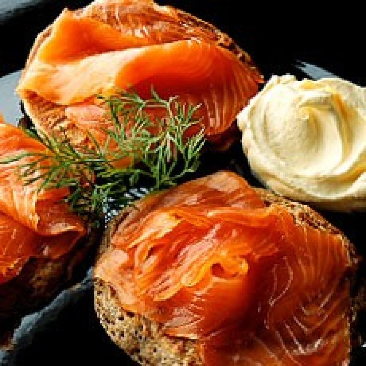 A picture of Delia's Buckwheat Blinis with Smoked Salmon, Creme Fraiche and Dill recipe