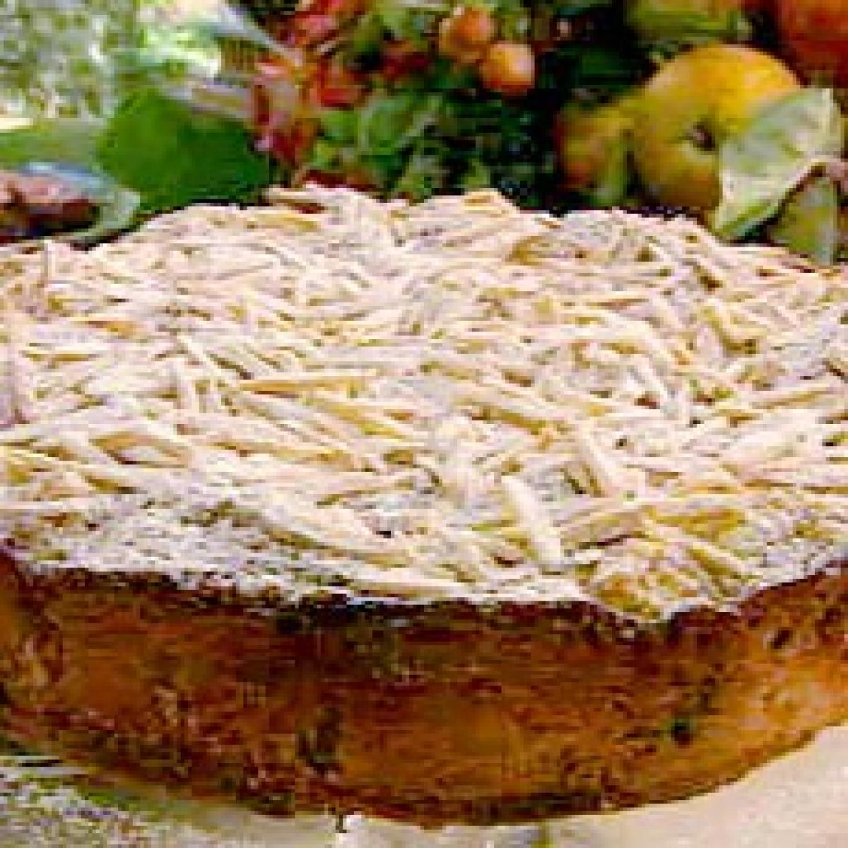 A picture of Delia's Prune, Apple and Armagnac Cake with Almond Streusel Topping recipe