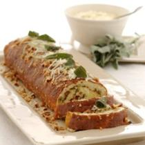 A picture of Delia's Cheese and Parsnip Roulade with Sage and Onion Stuffing recipe