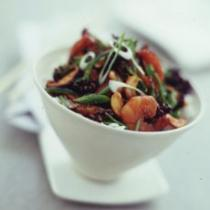 A picture of Delia's Chinese Stir-fried Prawns with Purple Sprouting Broccoli and Cashews recipe