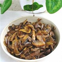 A picture of Delia's Lambs' Liver with Wild Mushrooms in Madeira recipe