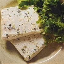A picture of Delia's Terrine with Three Cheeses recipe