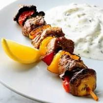 A picture of Delia's Lamb Kebabs with Lemon and Rosemary recipe