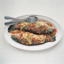 A picture of Delia's Chilled Marinated Trout with Fennel recipe