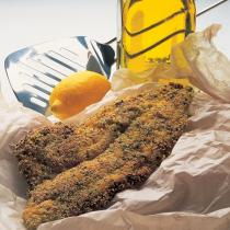 A picture of Delia's Fried Plaice Fillets with a Herb and Polenta Crust recipe