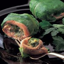 A picture of Delia's Steamed Trout Fillets in Lettuce Parcels with a Thai Stuffing recipe