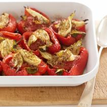 A picture of Delia's Roasted Red Peppers Stuffed with Fennel recipe