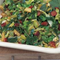 A picture of Delia's Cabbage with Bacon, Apples and Cider recipe