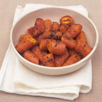 A picture of Delia's Oven-roasted Carrots with Garlic and Coriander recipe