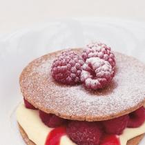 A picture of Delia's Pecan Shortbreads with Raspberries and Raspberry Puree recipe