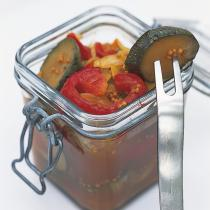 A picture of Delia's Pickled Peppers and Courgettes recipe