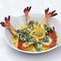 A picture of Delia's Roasted Butterflied Tiger Prawns in Garlic Butter recipe