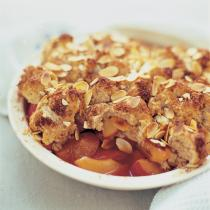 A picture of Delia's Plum and Almond Buttermilk Cobbler recipe